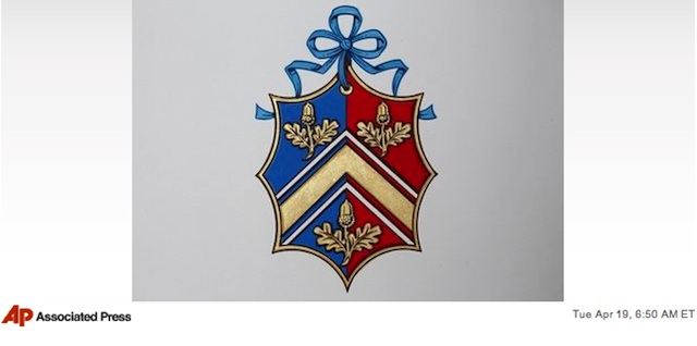 ケイト・ミドルトンさんの紋章