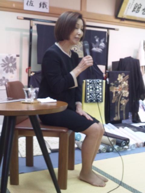 野際陽子さん、「きもの絵巻館」に来館!