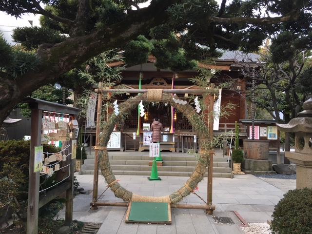 初詣@鳩森八幡神社