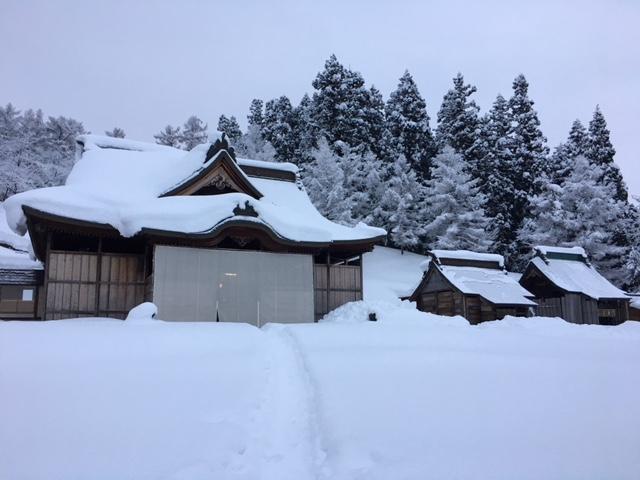 参拝@雪の諏訪神社