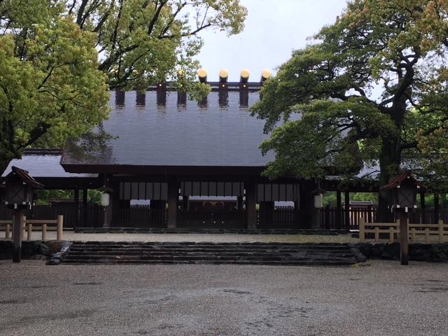 参拝@雨の熱田神宮
